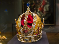 Crown in Museum Hofburg palace in Vienna Austria