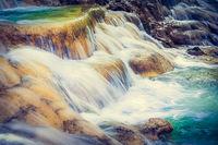 Tat Sae Waterfalls. Beautiful landscape. Laos.