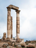 columns of Temple of Hercules at Amman Citadel