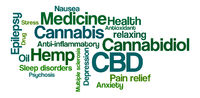 Word Cloud on a white background - CBD