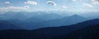 Blaue Bergketten