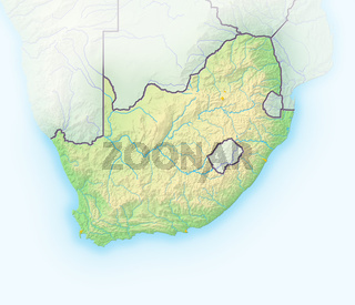 Südafrika , Reliefkarte.