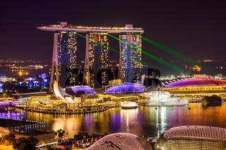 Singapore city skyline