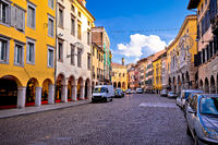 Colorful street in Udine landmarks view