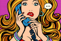 Woman, bad talking on the phone