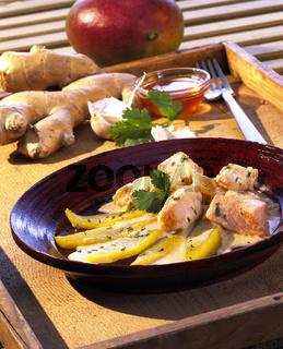 Fischgcurry mit Mango