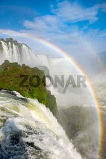 The majestic Iguazu Falls, a wonder of the world