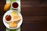 Bread Rolls with Jam and Tea