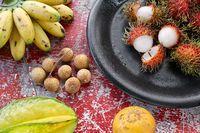 Tasty exotic fruit