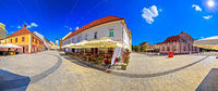 Town of Cakovec square and landmarks panoramic view
