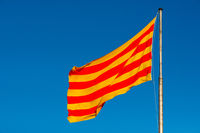 Catalonia flag waving on the wind