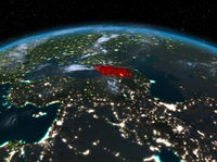 Georgia from space at night