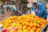fruit seller in Medellin