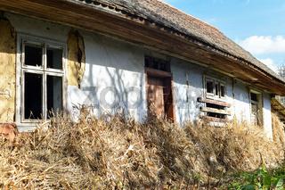 Voroblevychi village, Drohobych district, Western Ukraine - October 14, 2017: An old house, rural life, series around the village