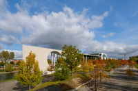 Bundeskanzleramt ( german chancellery) - government district during autumn  in Berlin