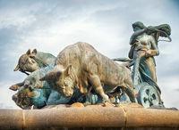 The Gefion Fountain in Copenhagen.