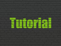 Learning concept: Tutorial on wall background