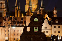Night in Old Town of Gdansk