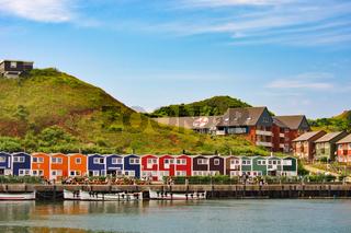 Helgolands bunte Häuser