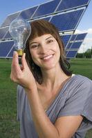 Photovoltaic und Glühlampe