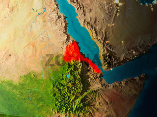 Orbit view of Eritrea