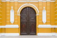 Entrance of Iglesia La Ermita in Barranco, Lima