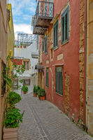 Street in old town Chania, Crete island, Greece