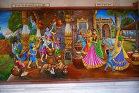 Krishna, Vrindavan Ka dulara painting. Iskcon temple, Pune