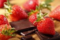 Erdbeeren und Schokolade