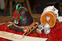 Detail einer Hochzeitstorte bei einer Schützenhochzeit