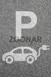 Parkplatz Elektro Auto Elektroauto parken Fahrzeug Umwelt umweltfreundlich