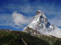 Matterhorn mit Wolken / Matterhorn with clouds