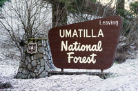 Umatilla National Forest Entrance Sign Oregon Wilderness