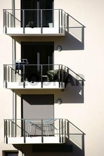Balkone werfen Schatten