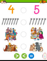 greater less or equal maths puzzle game