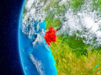 Gabon on Earth from space