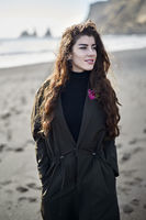 Girl posing on beach