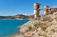 La Pedrera Reservoir in Orihuela. Spain