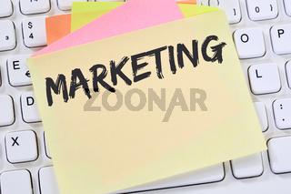 Marketing Werbung Firma Büro Business Konzept Notizzettel