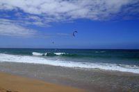 Kitesurfing on Fuerteventura Island