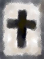 gemaltes christliches kreuz - illustration