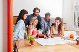 Startup Team bei der Strategie Planung