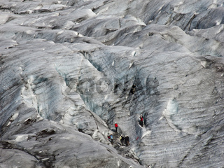 Bergsteiger am Skeidara Gletscher / Island