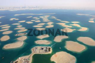 Dubai The World Welt Insel Inseln Deutschland Österreich Schweiz Panorama Luftaufnahme Luftbild