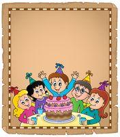 Kids party topic parchment 1