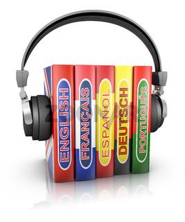 Headphones and  books