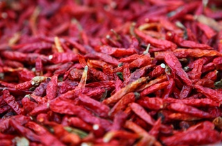 Hot Chili Peppers Red And Dried Ready To Spice Up Your Food