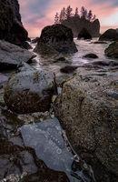 Rocky Beach Tidepools, Landscape at Sunset