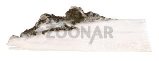 raw crystal of xonotlite gemstone isolated