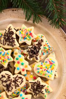 Colorful Sprinkled Christmas Sugar Cookies